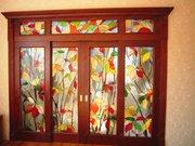 Витражное стекло для перегородок и раздвижных дверей